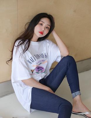 헤듀스 나염 티셔츠 30236